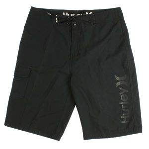 Hurley Mens One & Only Logo Board Shorts Black